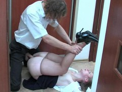 Inessa&Mike office hose sex action