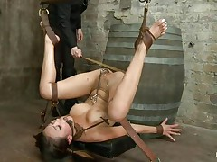 oriental young slave getting punished for her sins