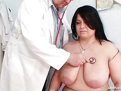 busty brunette hair acquires played by doctor