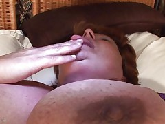 huge granny masturbating with a dildo
