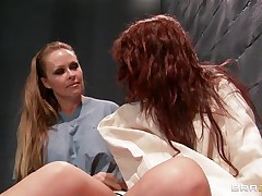blonde slut fingers redhead patient