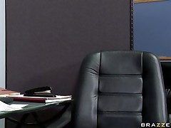sexy babe sucking cock under desk