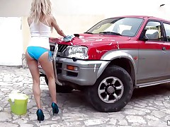 wet car wash to get dick