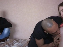 Thick hung stud bangs the shit out of a tight pussy