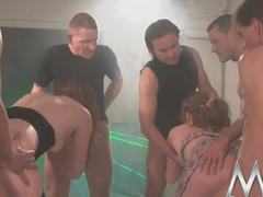 Twl sluts enjoys large loads of bukkake cum fun