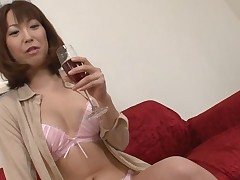 Pretty Oriental charms with wild blowbang to get unfathomable anal