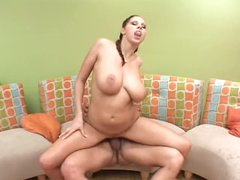 Big tits Gianna Michaels rides her man
