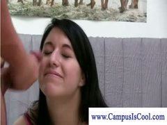 Cum facial and sex for college educational purposes