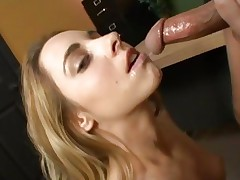 Lindsay Meadows gets saturated with hot cum