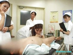 4 Nurses Giving Handjob And Orall-service For Patient Cum To Mouth In The Surgery