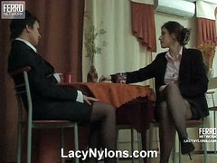 Sheila&Jaclyn nasty nylon video