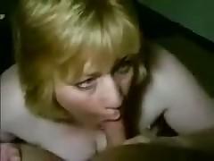Fat blond smokes pecker