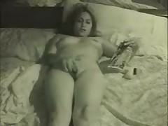 Girl with fingers in cunt