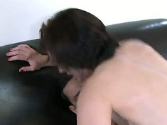 Marco Rivera got on his tight cock a hot brunette chick Sarah Shevon, she rides his dick very hot and passionate!