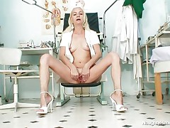 naughty gilf nurse shows her vagina