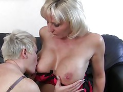 aged blonde lesbians having fun and hard sex