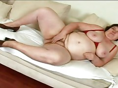 mature slut masturbating and sucking large cock