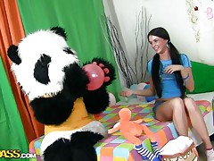 birthday party with panda