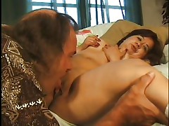 little dark brown slut making a perfect irrumation