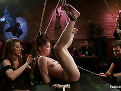 pretty chick tied up and fucked