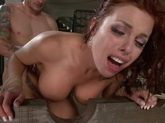 Redhead Milf receives her ass punished deep