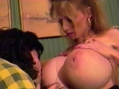 Give it up to this daring, alluring blonde wench in one of her daring...