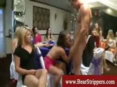 CFNM stripper raunch fest with concupiscent ladies