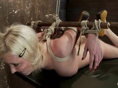 Sassy Cherry Torn gets herself tied up in knots