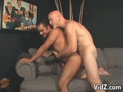 Latin asshole plug right through by this white cock