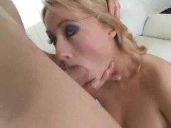 Cute heels on a small tits blonde slut