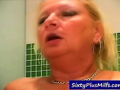 Watch this hawt grandma pounding with a younger guy